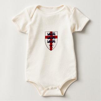 England Soccer three lions shield Baby Bodysuit