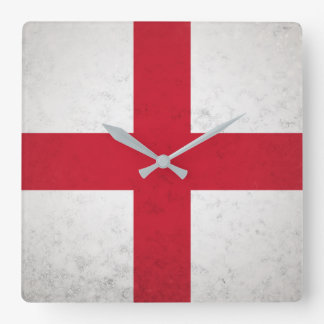 England Square Wall Clock