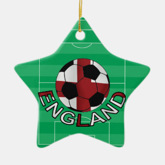 England st Georges cross soccer ball Ceramic Ornament