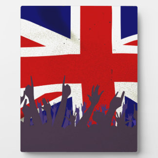 England State Flag with Audience Photo Plaque