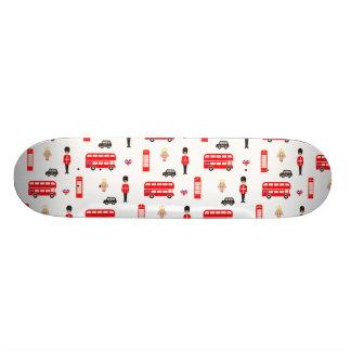 England Symbols Pattern 20.6 Cm Skateboard Deck