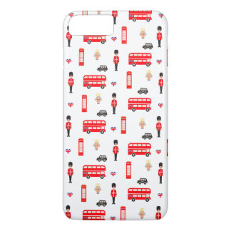 England Symbols Pattern iPhone 8 Plus/7 Plus Case