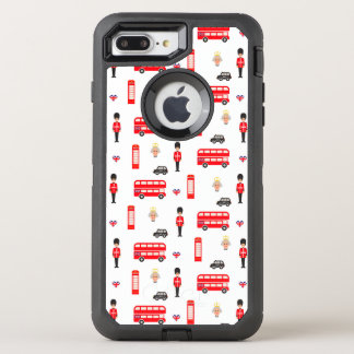 England Symbols Pattern OtterBox Defender iPhone 8 Plus/7 Plus Case