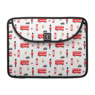 England Symbols Pattern Sleeves For MacBook Pro