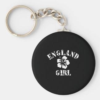 England Tattoo Style Basic Round Button Key Ring
