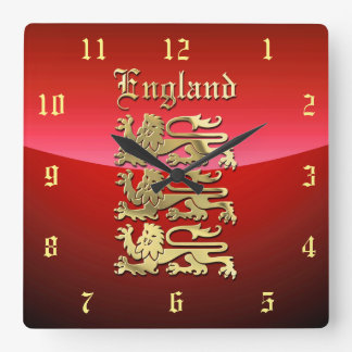 England - The Royal Arms Square Wall Clock