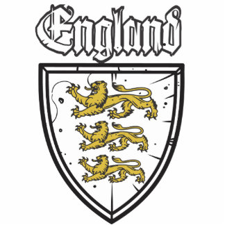 England Three Lions Wooden Shield Photo Sculptures