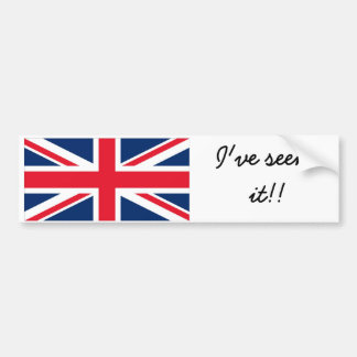 England to bumber to sticker bumper sticker