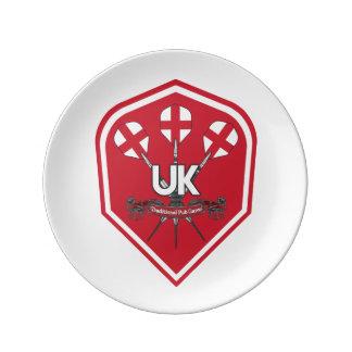 England Traditional Pub Games Plate