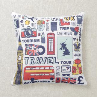 England Travel Doodles Cushion
