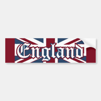 England-Union Jack Flag Bumper Sticker