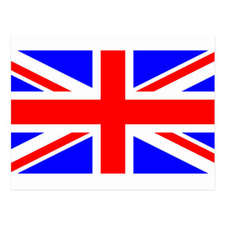 england United_Kingdom flag Postcard