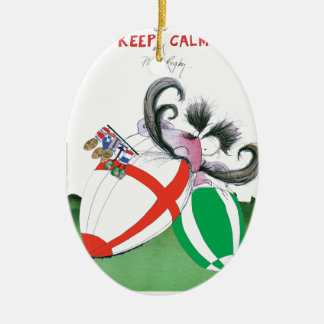 england v ireland rugby balls - from tony fernande ceramic oval decoration
