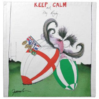england v ireland rugby balls - from tony fernande napkin