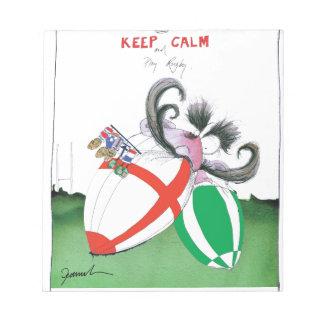 england v ireland rugby balls - from tony fernande notepad