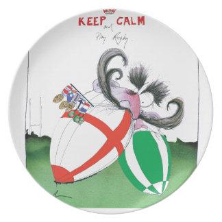 england v ireland rugby balls - from tony fernande plate