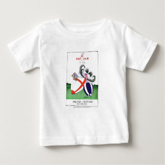 england v scoland rugby balls from tony fernandes baby T-Shirt