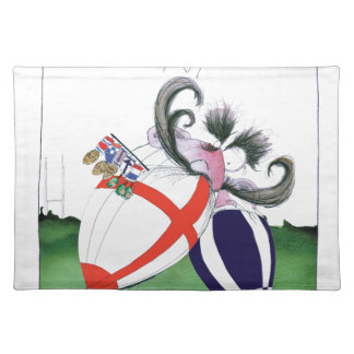 england v scoland rugby balls from tony fernandes placemat