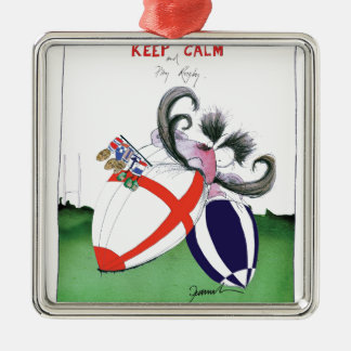 england v scoland rugby balls from tony fernandes Silver-Colored square decoration
