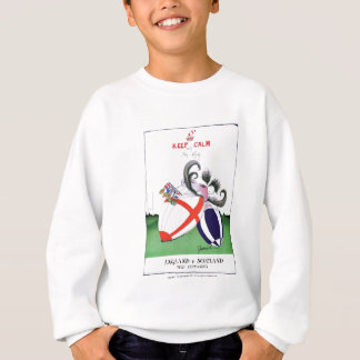 england v scoland rugby balls from tony fernandes sweatshirt