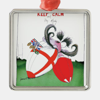 england v wales rugby balls from tony fernandes Silver-Colored square decoration