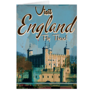 England Vintage travel poster Greeting Card