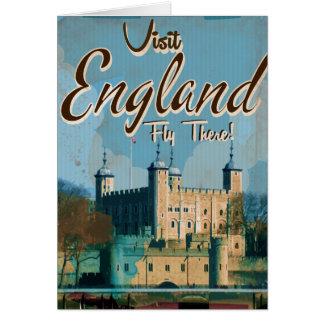 England Vintage travel poster Greeting Card