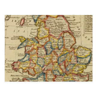 England, Wales 6 Postcard