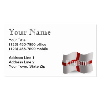 England Waving Flag Pack Of Standard Business Cards