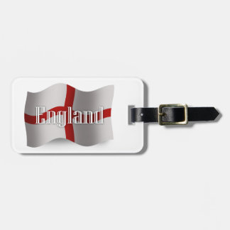 England Waving Flag Luggage Tag