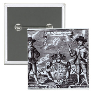 England's Famous Discoverers 15 Cm Square Badge