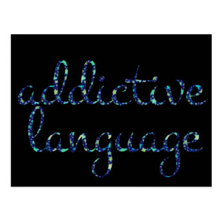 English ADDICTIVE LANGUAGE in Stars Postcard
