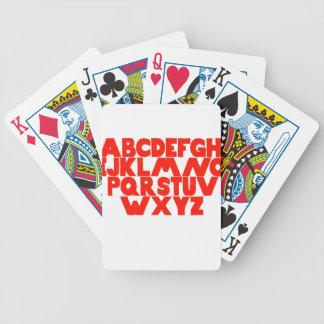 English Alphabet Bicycle Playing Cards