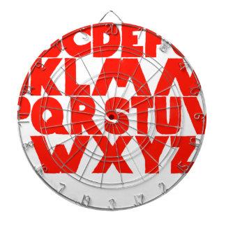 English Alphabet Dartboard