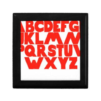 English Alphabet Small Square Gift Box