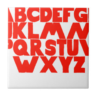 English Alphabet Tile