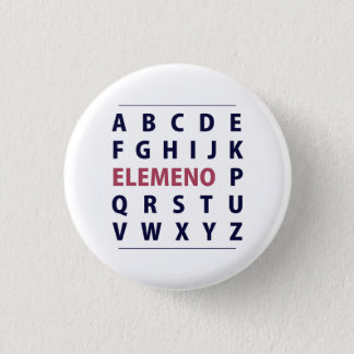 English Alphapbet ELEMENO Song 3 Cm Round Badge