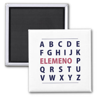 English Alphapbet ELEMENO Song Square Magnet