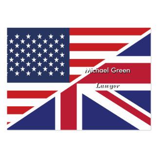 English American Flag 1 Business Card