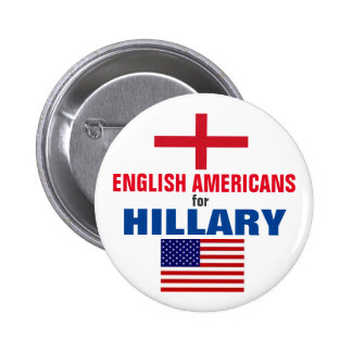 English Americans for Hillary 2016 6 Cm Round Badge