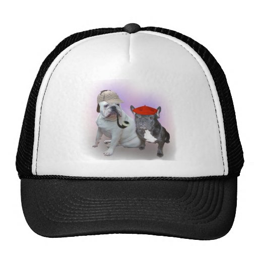 English and French bulldogs Mesh Hats