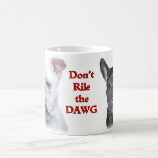 English and French Bulldogs mug