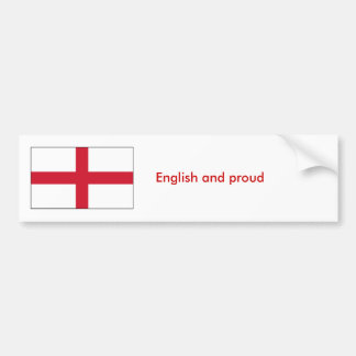 English and proud bumper sticker