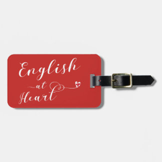 English At Heart Luggage Tag Template, England