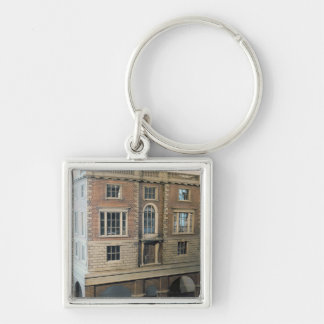 English balustraded doll's house with balcony keychains
