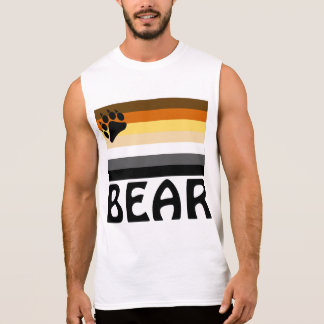 English (BEAR) Gay Bear Pride Flag Sleeveless Shirt
