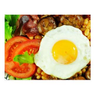 English breakfast design postcard