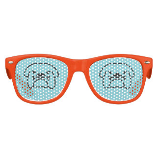 English british bulldog dog party shades