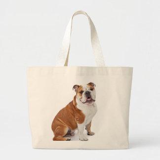 English British Bulldog Large Tote Bag