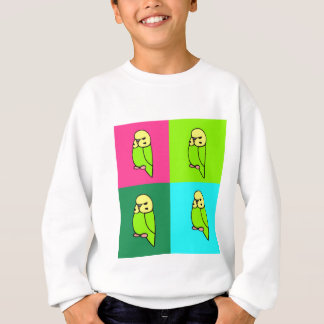 English Budgie Pop Art Sweatshirt